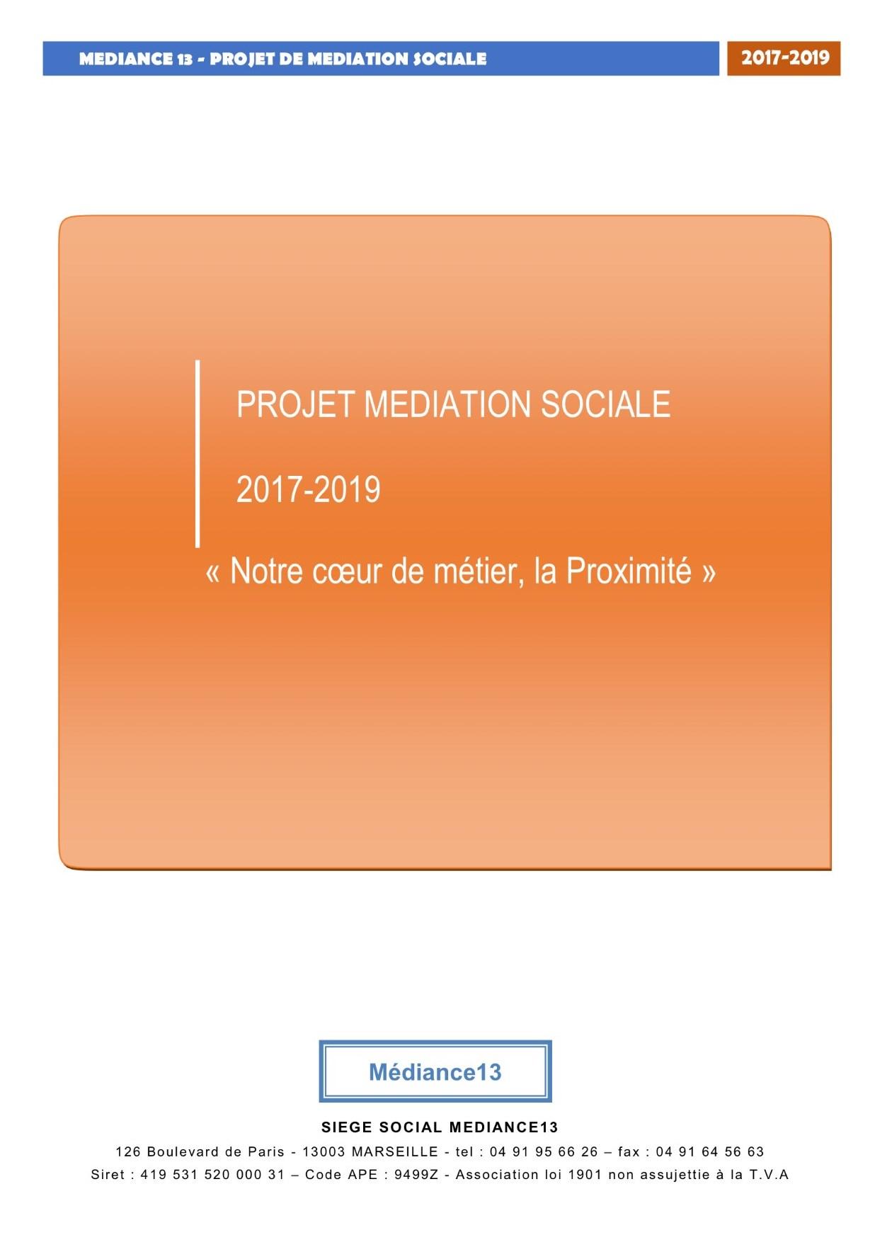 Projet de médiation sociale