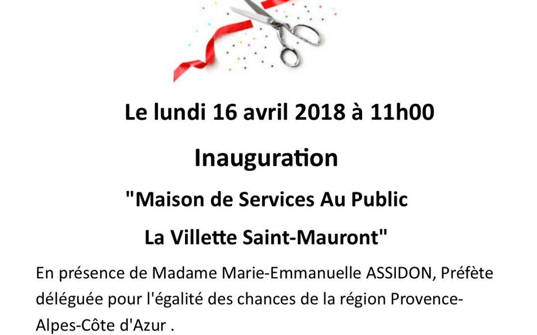 Inauguration Maison de Services Au Public «La villette Saint-Mauront»